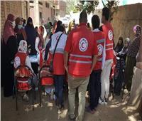 الهلال الأحمر يدشن قافلة طبية بقرية كفر طنبدى بمركز شبين الكوم