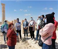 طلاب سياحة مطروح في زيارة علمية لمنطقة آثار مارينا