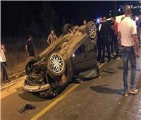 إصابة سائق في حادث بالمنيا