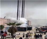 انتداب المعمل الجنائي لمعاينة حريق برج اتصالات خلف كارفور المعادى