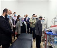 مساعد وزير الصحة يتفقد مستشفى بني سويف التخصصي