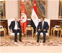 «السيسي» يستقبل الرئيس التونسي بمطار القاهرة | فيديو وصور