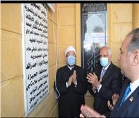 وزير الأوقاف ومفتي الجمهورية ومحافظ الجيزة يفتتحون «مسجد النور» بالمنصورية