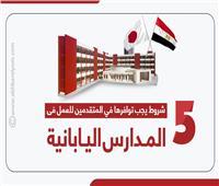 إنفوجراف | 5 شروط يجب توافرها في المتقدمين للعمل بالمدارس اليابانية