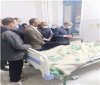 محافظ المنيا يتابع حالة المصابين في حادث تصادم قطار مع «عربة كارو».. صور