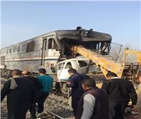 مصرع وإصابة 5 أشخاص إثر تصادم قطار بـ«كارو» في المنيا