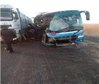 إصابة 5 أشخاص في تصادم أتوبيس وسيارة نقل بطريق «سفاجا - الغردقة»