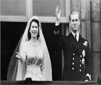 اللقاء الأول للأمير فيليب والملكة إليزابيث.. ومشاهد من حفل زفاف 1947