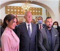 درة وزوجها علي موعد مع الرئيسالتونسي