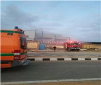 إخماد حريق مصنع مفروشات السويس