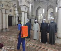 تعقيم مسجد سيدي عبدالرحيم القنائي بقنا استعدادًا لشهر رمضان.. صور
