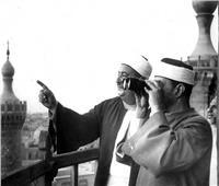 صورة من الأرشيف لاستطلاع رؤية هلال شهر رمضان من أعلى برج القاهرة