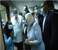 «وزيرة الصحة» توجه بنقل مريض بفيروس كورونا بسيارة إسعاف إلى سوهاج
