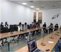 طلاب جامعة حلوان في زيارة لوكالة الفضاء المصرية بالعاصمة الإدارية