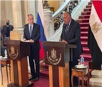 وزير الخارجية يعلن مناقشة أزمة سد النهضة مع نظيره الروسي