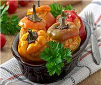 طريقةعمل محشي الفلفل  زينة  سفرة الفطار   مطبخ رمضان