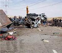 إصابة 4 أشخاص في حادث انقلاب سيارة ملاكي في بني سويف