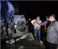 وفاة 12 شخصا وإصابة 4 آخرين في تصادم أتوبيس مع نقل بطريق أسيوط البحر الأحمر
