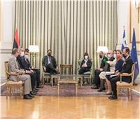 رئيس المجلس الرئاسي الليبي يجري مباحثات مع رئيسة اليونان ورئيس الوزراء