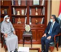 «العناني» يبحث مع السفير الإماراتى تعزيز الحركة السياحية العربية