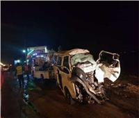 مصرع وإصابة 4 أشخاص في حادث تصادم بالمنيا