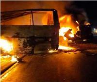 تفاصيل حادث تصام سيارة نقل بحافلة رحلات بطريق «أسيوط - البحر الأحمر»