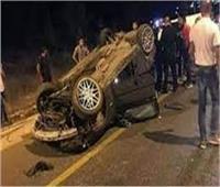 مصرع 2 وإصابة 3 من أسرة واحدة في حادث سير بالمنيا