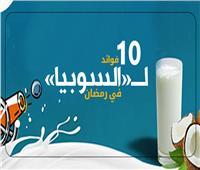 إنفوجراف| 10 فوائد لـ«السوبيا» في رمضان
