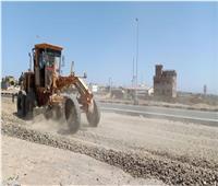 تطوير المدخل الشمالى لمدينة رأس غارب للحد من حوادث عكس الاتجاه