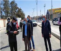 محافظ بورسعيد يوجه حي الزهور بتكثيف حملات إزالة الإشغالات