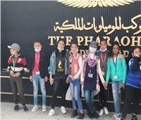 أطفال الأسمرات في زيارة للمتحف القومي للحضارة