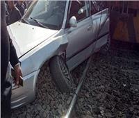 اصطدام قطار أبو قير بسيارة ملاكي في الإسكندرية