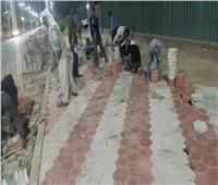 استكمال أعمال التطوير والتجميل بشوارع حي غرب أسيوط