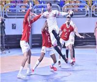 الشوط الأول | الزمالك متقدم على الأهلي 16-13 في بطولة الدوري لكرة اليد