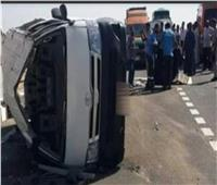 إصابة ٨ أفراد إثر انقلاب «ميكروباص» بشبين الكوم