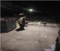 حملة نظافة مسائية بشوارع حى شمال الأقصر