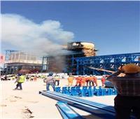 إصابة عاملين في حريق مصنع القناة للسكر بملوي