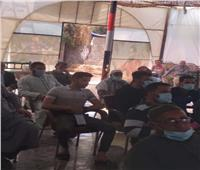 منسقي مبادرة «حياة كريمة» في زيارة لقرية قورص.. صور