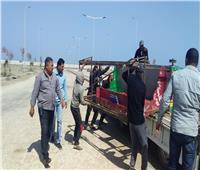 إزالةالاشغالات بمحيط محطة صرف السلام ببحر البقر جنوب بورسعيد