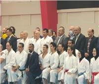 مجلس «الأولمبية» يشاركون منتخب الكاراتيه الإفطار في حضور وزير الرياضة