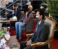وزير الرياضة يشهد اللقاء الودي بين منتخب مصر للكاراتيه وونظيره الأردني