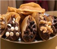 حلويات رمضان| قطايف بالشوكولاتة والقشطة