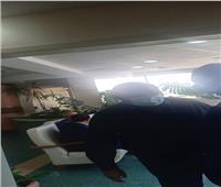 هشام حطب أول الزائرين لغرفة وزير الشباب والرياضةبعد تعرضه للحادث