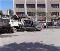 رفع 6 آلاف طن قمامة وإزالة 556 إشغالات متنوعة بمراكز الفيوم