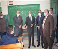 محافظ المنيا يتفقد عددا من لجان الامتحانات التجريبية للثانوية العامة