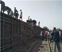 103 إصابة حتى الآن.. التفاصيل الكاملة لحادث انقلاب قطار طوخ |صور وفيديو