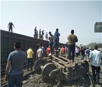 القليوبية: خروج 8 عربات عن القضبان من قطار طوخ