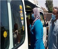 تحصيل غرامات فورية لعدم ارتداء الكمامات بمركز طهطا في سوهاج