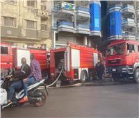 صور| إخماد حريق بكافتيريا على كورنيش الإسكندرية