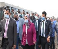 وزيرة التضامن توجه بتقديم كافة أوجه الدعم لمصابي قطار طوخ